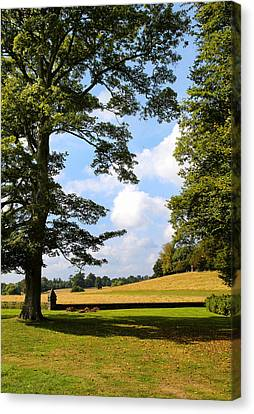 Canvas Print featuring the photograph Petworth Gardens By Mike-hope by Michael Hope