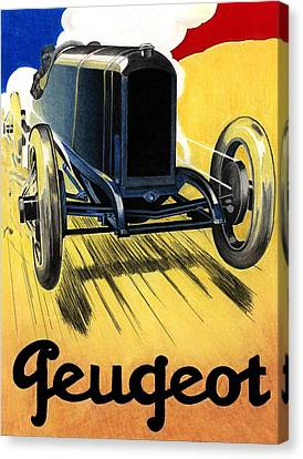 Peugeot Advert Canvas Print by Lyle Brown