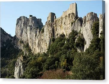 Peyrepertuse Castle Canvas Print by Bob Gibbons