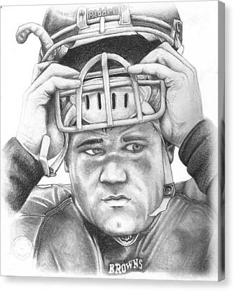 Peyton Hillis Canvas Print by Mike Shaw