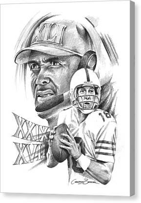 Peyton Manning Canvas Print by Christiaan Bekker