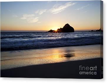 Pfeiffer Beach Sunset Canvas Print by Jenna Szerlag