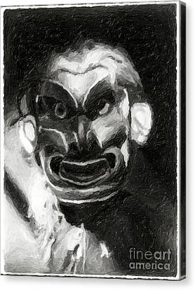 Canvas Print featuring the photograph Pgwis Qaguhl by Edward S Curtis