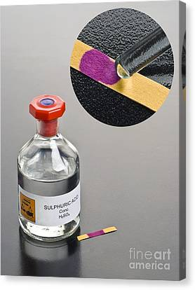 Ph Of Concentrated Sulphuric Acid Canvas Print