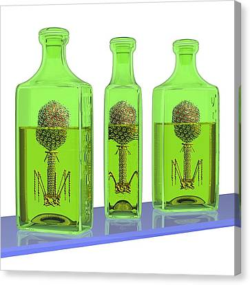 Phage Therapy Bottles Canvas Print