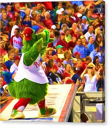 Phanatic In Action Canvas Print