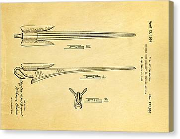 Phaneuf Hood Ornament Patent Art 1954 Canvas Print by Ian Monk