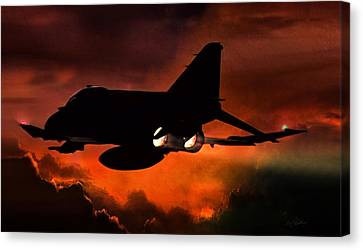 Fighter Canvas Print - Phantom Burn by Peter Chilelli