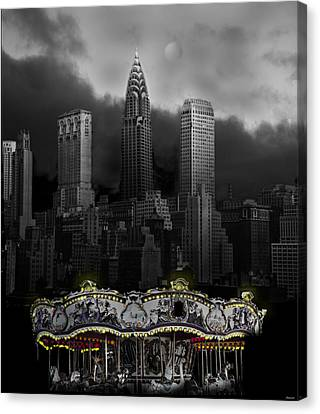 Phantom Carousel Canvas Print by Larry Butterworth