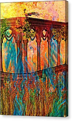 Phantom Fires Canvas Print by Ally  White