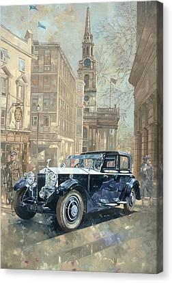 Phantom Near Trafalgar Square  Canvas Print by Peter Miller