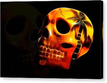 Phantom Skull Canvas Print by Shane Bechler