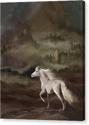 Storybook Stallion Canvas Print by Melinda Hughes-Berland