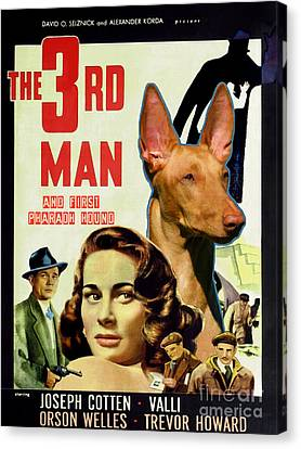 Pharaoh Hound Art Canvas Print - The Third Man Movie Poster Canvas Print by Sandra Sij