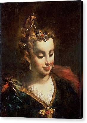 Pharaohs Daughter, After Palma Il Canvas Print by Giovanni Antonio Guardi