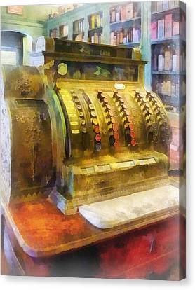 Pharmacist - Cash Register In Pharmacy Canvas Print by Susan Savad