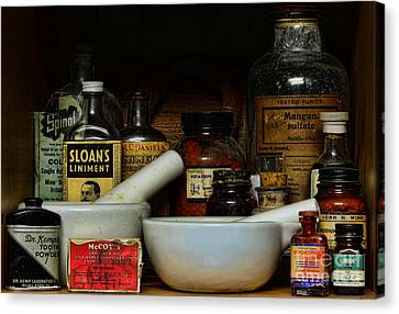 Pharmacist - Cod Liver Oil And More Canvas Print by Paul Ward