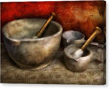 Pharmacist - Pestle And Son  Canvas Print by Mike Savad