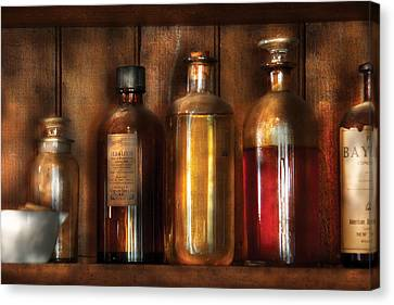 Pharmacist - Various Elixirs  Canvas Print by Mike Savad