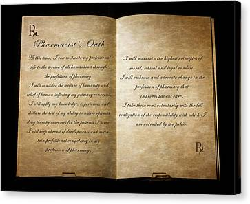 Pharmacist's Oath Canvas Print by Cecil Fuselier