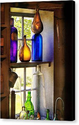 Pharmacy - Colorful Glassware  Canvas Print by Mike Savad