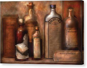 Pharmacy - Indigestion Remedies Canvas Print by Mike Savad