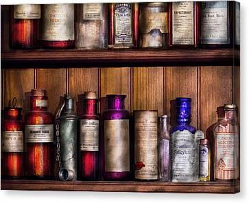Pharmacy - Ingredients Of Medicine  Canvas Print by Mike Savad