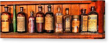 Pharmacy - Medicine Bottles II Canvas Print by Lee Dos Santos