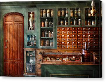 Pharmacy - Medicine - Pharmaceutical Remedies  Canvas Print by Mike Savad