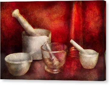 Pharmacy - Pestle - Endless Variety  Canvas Print by Mike Savad