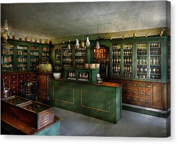 Medicine Canvas Print - Pharmacy - The Chemist Shop  by Mike Savad