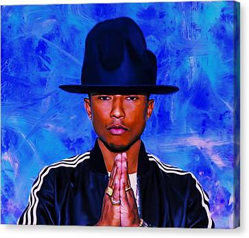 Pharrell Williams Peace On Earth Canvas Print by Brian Reaves