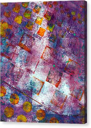 Energy Art Movement Canvas Print - Phase Series - Picking Up The Pieces by Moon Stumpp