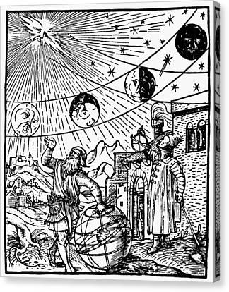 Cosmology Canvas Print - Phases Of The Moon, 1534 by Granger