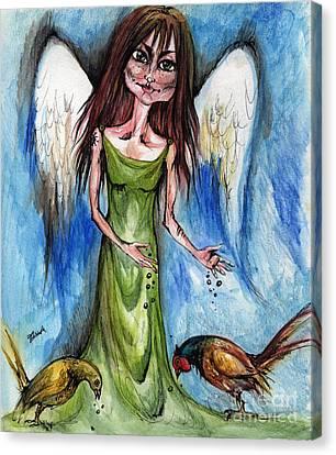 Pheasant Angel Canvas Print by Angel  Tarantella