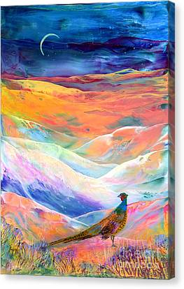 Designer Colour Canvas Print - Pheasant Moon by Jane Small