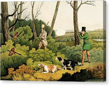 Pheasant Shootin Canvas Print by Henry Thomas Alken