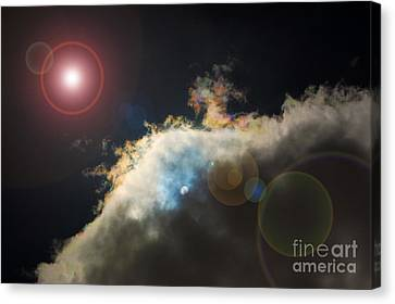Phenomenon With Lens Flare Canvas Print by Debra Thompson