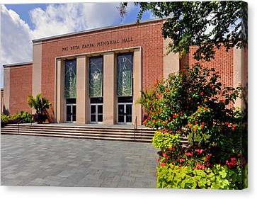 Canvas Print featuring the photograph Phi Beta Kappa Hall by Jerry Gammon