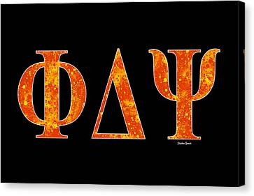 Phi Delta Psi - Black Canvas Print by Stephen Younts