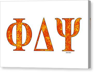 Phi Delta Psi - White Canvas Print by Stephen Younts