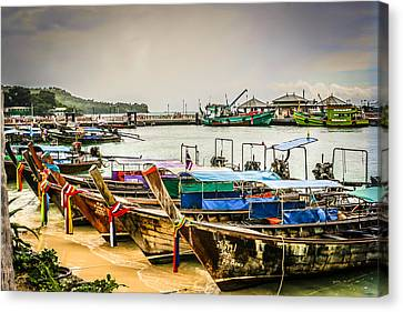 Canvas Print featuring the photograph Phi Phi Island by Rob Tullis