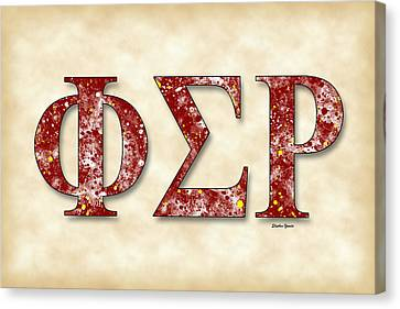 Phi Sigma Rho - Parchment Canvas Print by Stephen Younts