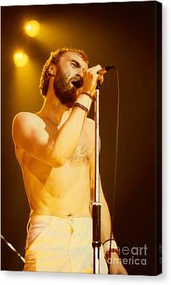 Phil Collins Of Genesis At Oakland Coliseum Canvas Print