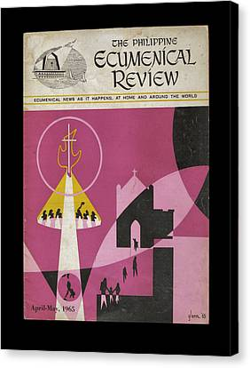 Phil Ecumenical Review 1965 B Canvas Print by Glenn Bautista