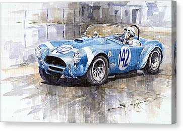 Phil Hill Ac Cobra-ford Targa Florio 1964 Canvas Print by Yuriy Shevchuk