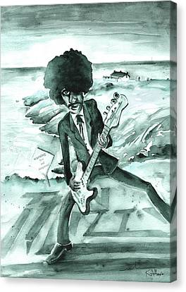 Phil Lynott In Howth Canvas Print by Miki De Goodaboom