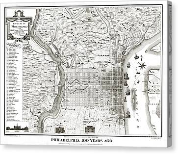 Philadelphia - Pennsylvania - United States - 1875 Canvas Print by Pablo Romero