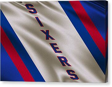 Philadelphia 76ers Uniform Canvas Print by Joe Hamilton