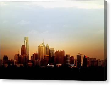 Philadelphia At Dusk Canvas Print by Bill Cannon